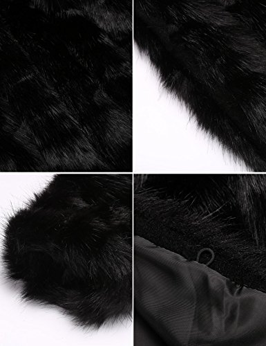 Soteer Women's Thick Outwear Winter Warm Long Faux Fur Coat Jackets Black XL by Soteer (Image #5)
