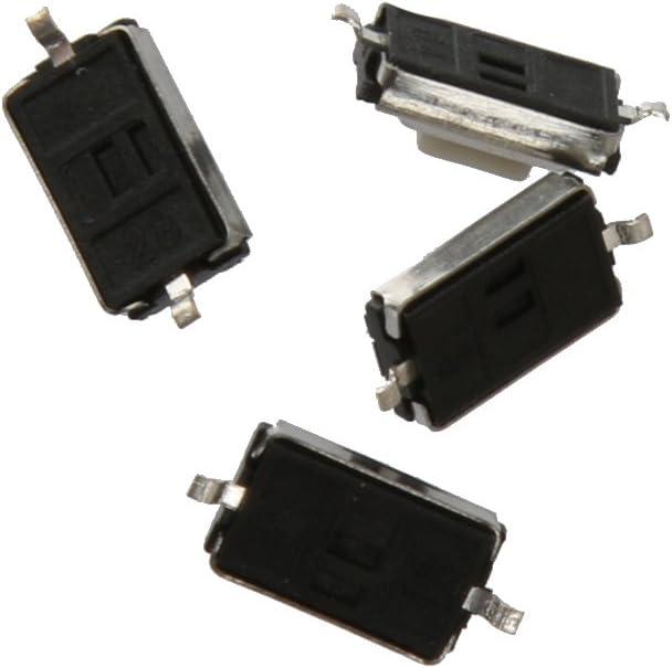 H HILABEE 200pcs 3x6x2.5mm Taktile Taster Taktschalter Mikroschalter SMD Schalter