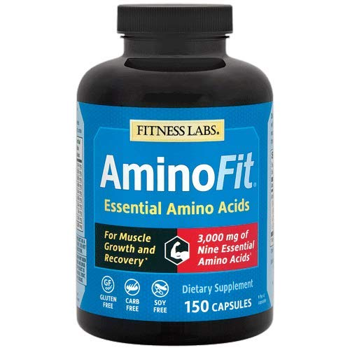 AminoFit Essential Amino Acids - Complete & Optimum Ratio with BCAAs - For Muscle Growth and Recovery* (150 Capsules)
