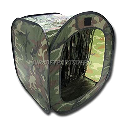 PForce Portable Airsoft BB Trap Target Tent Easy to Fold Test Firing Shooting Range Hunting; Good for Both Indoor and Outdoor Shooting, Easy Clean Up and Storage; Stylish BB Catcher