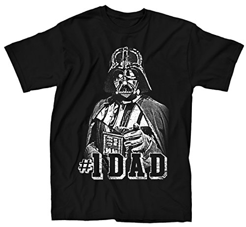 Star Wars Darth Vader #1 Dad Father Classic Pose Men's Adult Graphic Tee T-Shirt (Small, (Star Wars Distressed T-shirt)