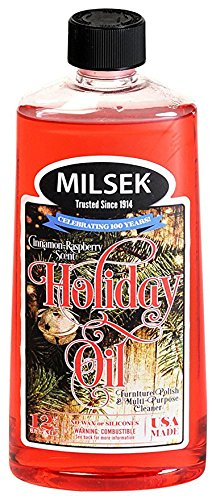 (Milsek Furniture Polish and Cleaner with Holiday Oil & Towel, 12-Ounce & Towel, HOT)