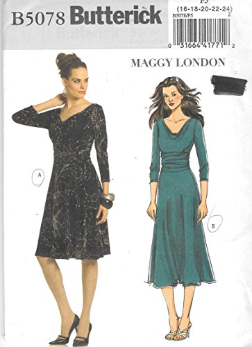 Butterick 5078 Maggy London Misses' Dress Sewing pattern Size 16-24
