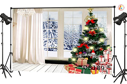 LB 9x6ft Christmas Gift Vinyl Photography Backdrop Customized Photo Background Studio Prop DB189 -