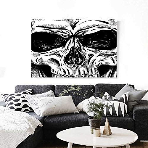 Warm Family Halloween Art-Canvas Prints Gothic Dead Skull