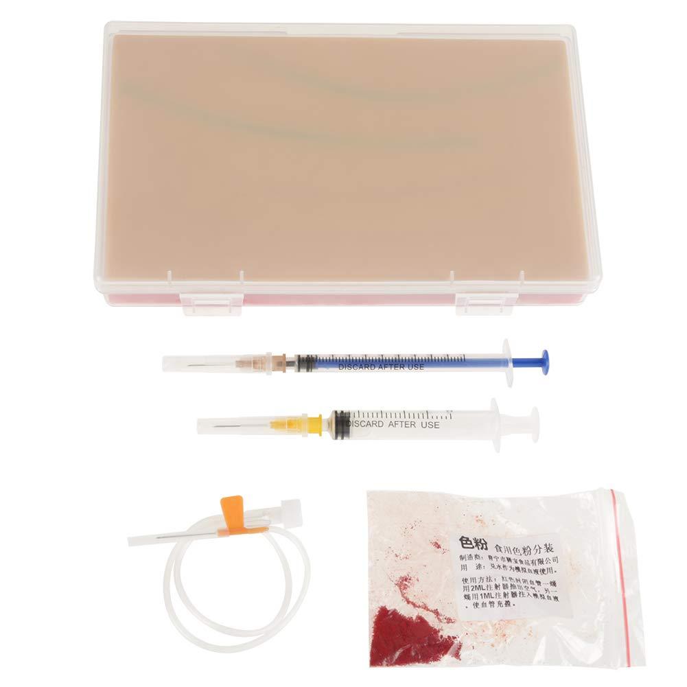 Inyección Sutura Entrenamiento Almohadilla Piel Humana Modelo Médico Repetido Para Estudiante Enfermera Material Silicona