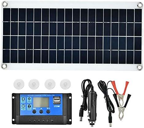 25W 12V単結晶ソーラーパネルソーラーモジュール、1pcs 25W単結晶ソーラーパネルソーラーセルグレードA + 20A LCD充電コントローラーソーラー+ MC4延長ケーブル