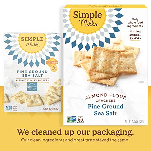 Simple Mills Almond Flour Crackers, Fine Ground Sea Salt, Gluten Free, Flax Seed, Sunflower Seeds, Corn Free, Good for Snacks, Made with whole foods, 6 Count (Packaging May Vary) 4