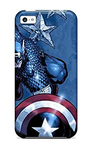Pretty WzbXVuM3026wiLVk Iphone 5c Case Cover/ Captain America Series High Quality Case