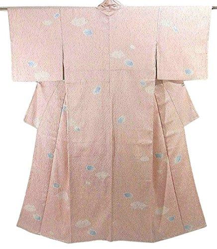 影響兵隊評価リサイクル 小紋 着物  絞り染め 地紙模様 正絹 袷 裄61.5cm 身丈151cm