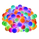 LE 100 LEDs 33ft Multi-color Globe String Lights, Water Resistance 8 Modes Lighting Fairy Twinkle Light Bulb For Patio Party Wedding Christmas Tree Décor(Adapter Included)