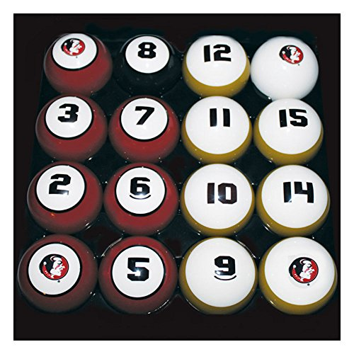 Hood Leather Goods Florida State University Billiard 16-ball Numbered Set (Billiard Florida Set Ball)