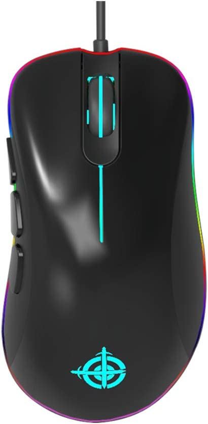 Gaming Mouse RGB Wired Mice 12400 DPI 6 Programmable Button – RGB Streamer Lighting Ergonomic Game USB Computer Mice -3327 Optical-8 Buttons MG10 For Windows 7 8 10 XP Linux