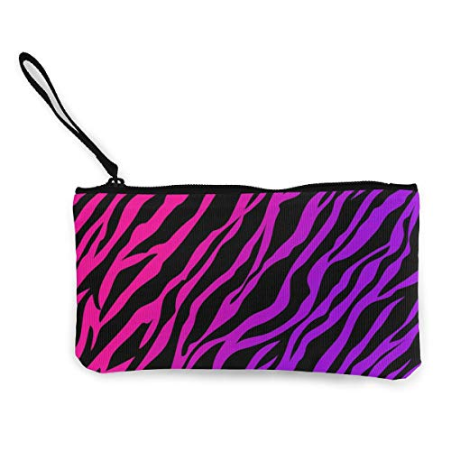 Wristlet Clutch Wallet Ladies Wedding Party Long Purse Pink Zebra Texture Art Canvas Coin Purse Handbag