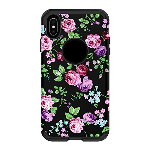 AMSKY Compatible iPhone XS Max Case Cover,for iPhone XS Max 6.5inch Marbling Armor Case Hybrid 3 Layers Rubber Protection Cover (E) -