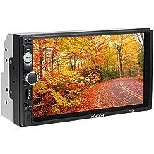 KKmoon 7 inch Universal 2 Din HD Bluetooth Car Radio MP5 Player Multimedia Radio Entertainment USB/TF FM Aux Input