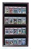 Mahogany Graded Psa Bvg And Sgc Sport Trading Cards Display Case Cabinet