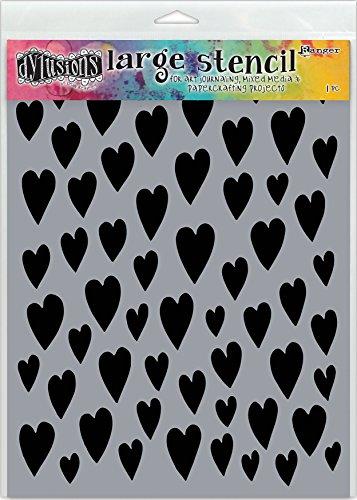 Ranger Love Hearts Dyan Reaveley's Dylusions Stencils 9