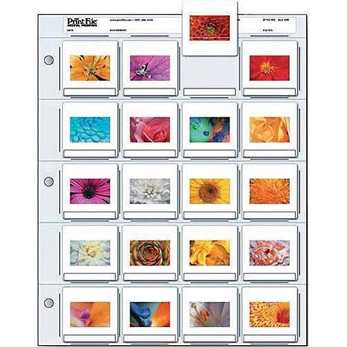- Printfile Top Load Holds 20 35mm Slides 100 Pack - Printfile 2X220B100