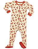 Leveret Baby Girls Footed Pajamas Sleeper 100% Cotton (Fox, 5 Toddler)