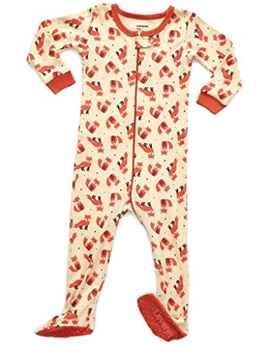 Leveret Baby Girls Footed Pajamas Sleeper 100% Cotton (Fox, 5 Toddler) by Leveret