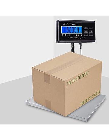 Báscula postal, balance de estación inteligente con gran plataforma de acero inoxidable cordón extensible pantalla