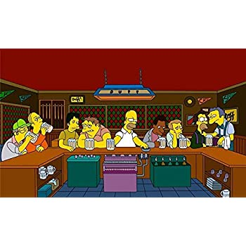"Lil Peep Bart Simpson poster wall art home decor photo print 16/"" 20/"" 24/"" sizes"