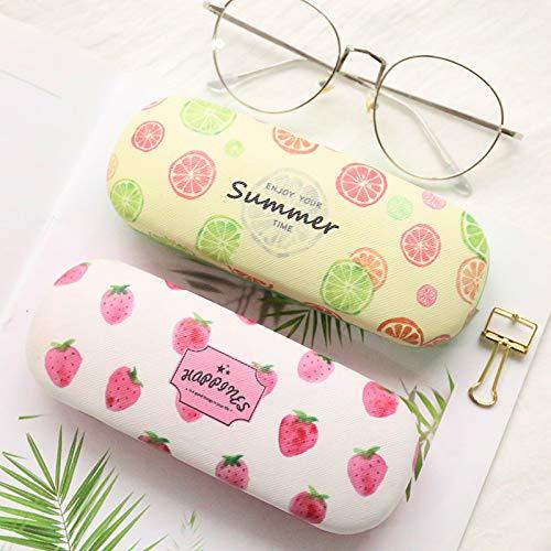 Tinkber Sch/öne Frucht Portable Brillen Fall Hard Box Frauen M/ädchen Sonnenbrille Halter Brillenetui
