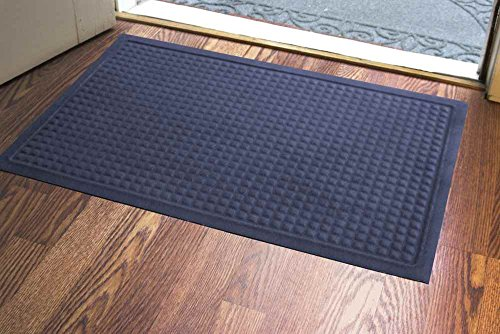 23 in. L x 35 in. W Royal Blue Soft Impressions Squares Floor Mat