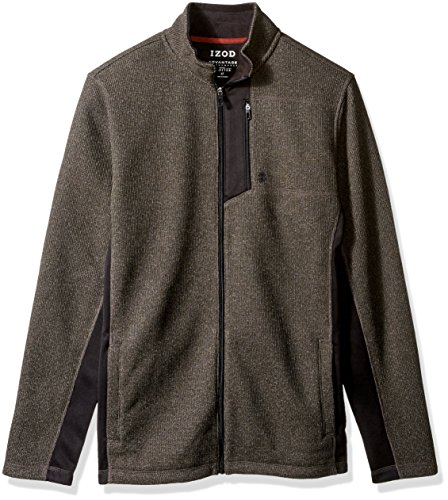 IZOD Mens Big and Tall Advantage Performance Long Sleeve Full Zip Soft Touch Fleece Jacket