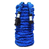 Garden Hose,KLAREN 75FT Expandable Lawn Garden Hose with Strongest Triple Core Latex Latest Improved Extra Strength Fabric Protection Lightweight Suitable For Home Car Wash Use(Blue)