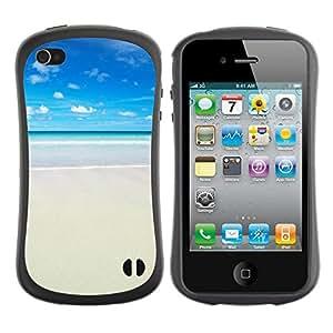 Hypernova Slim Fit Dual Barniz Protector Caso Case Funda Para Apple iPhone 4 / iPhone 4S [ Strand]