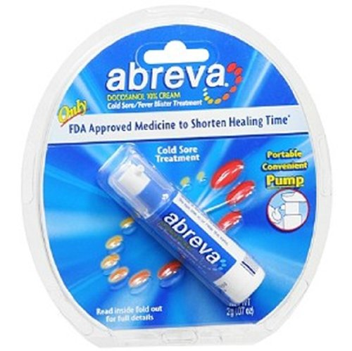 Abreva Cold Sore/Fever Blister Treatment, .07-Ounce Pump