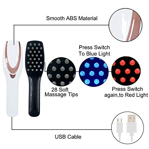 3-IN-1 Phototherapy Scalp Massager Comb for Hair Growth, Anti Hair Loss Head Care Electric Massage Comb Brush with USB Rechargeable, Gift for Women/Mother/Friends by Yeamon (Image #5)