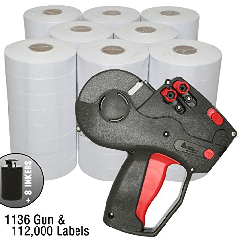 Monarch 1136 Price Gun with Labels Value Pack: Includes Monarch 1136 Pricing Gun, 112,000 White Pricemarking Labels, Bonus Inkers