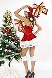 NuoReel Womens Velvet Christmas Corset Set(pack of 3)