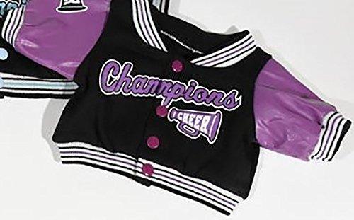 Pleather Jacket Varsity - Purple Cheerleader Varsity Jacket Fits Most 14
