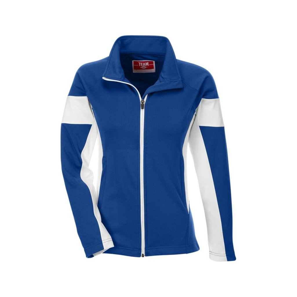 Team 365 Ladies Elite Performance Full-Zip (Small, Sport Royal/White) by Ash City Apparel