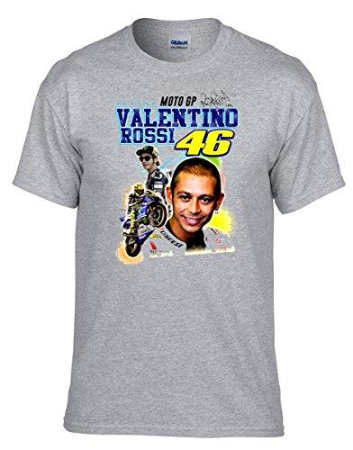 46 The DOCTOR Valentino Rossi Moto Motorbike Motorcycle Grau Fun T-Shirt -004 -Grau