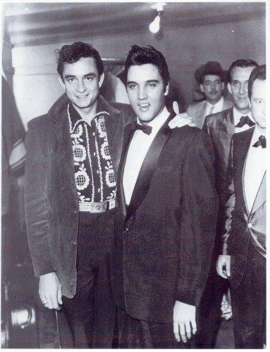 Elvis Presley Johnny Cash Photo Rock Star Photos Music Photos 8x10
