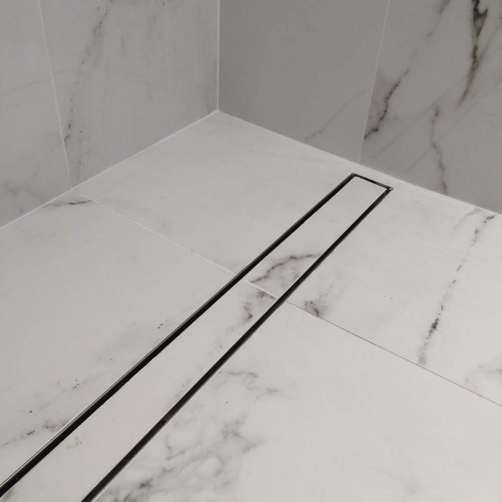 700mm Hahaemall drain de plancher de douche en acier inoxydable 360 /° Canal de douche Vidange des d/échets Rectangulaire avec couvercle amovible drainage rapide Anti colmatage