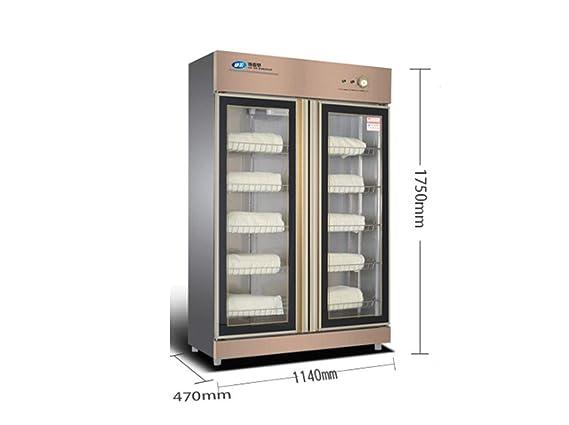 Esterilizador Armario de desinfección, armario de toallas con doble puerta, esterilizador de ozono UV, armario de desinfección de zapatillas de toalla de ...