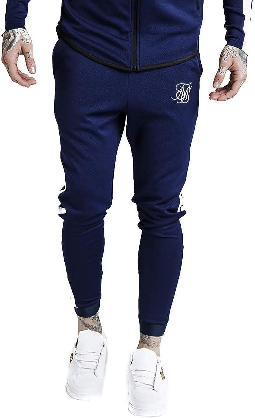 Sik Silk Pantalon Athlete Track Navy XL Azul: Amazon.es: Ropa y ...
