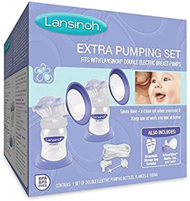 Lansinoh Pump Parts for On-the-Go Pumping Moms Compatible The Extra Pumping Set