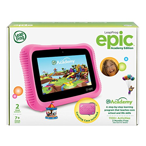 LeapFrog Epic Academy Edition 7'' Android 2.0 Based Kids Tablet 16GB with Carrying Case, Pink by LeapFrog (Image #6)