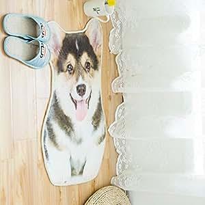 JIBUTENG Cute Cartoon Cat Kids Rugs,Dog Shape Design Shaped Mat,Animal Area Rugs Children Bedroom Mat,Carpet Rug for Living room (Corgi dog)