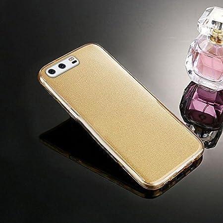 Funda Huawei P10 Plus,Carcasa Huawei P10 Plus,Brillantes Lentejuelas Estrella Brillo Transparente TPU Silicona 360/°Full Body Fundas Skin Cover Carcasa Silicona Funda Case para Huawei P10 Plus,Oro rosa