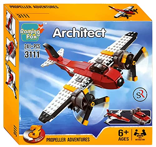 Raming Fox Architect 3111 3 Model Propeller Adventure Creator Building Blocks for Kids, Interconnecting Construction Set Toy for Kids