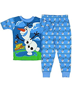 Frozen Little Boys Olaf Tight Fit Cotton Pajama Set (3T)