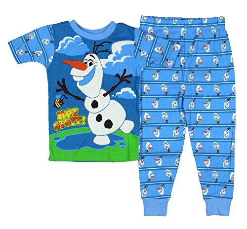 Disney Frozen Olaf 2 Piece Short Sleeve Pajama Sleepwear Little Boys 4T